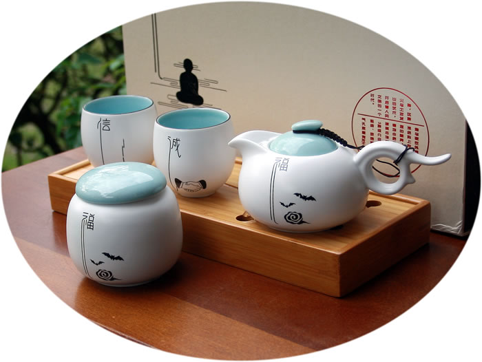 Chinese tea set buddha series A