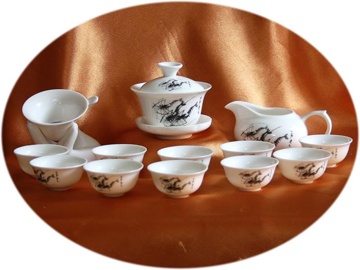 Chinese tea set Kung Fu Tea Set Shrimp art