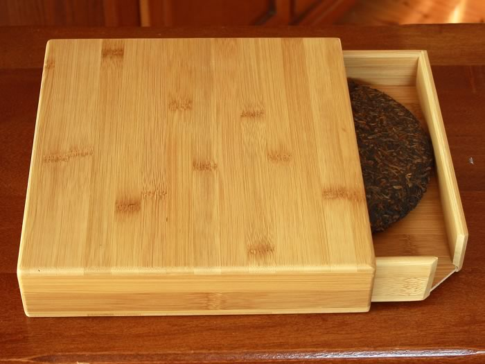 Pu-erh tea tray and drawer bamboo