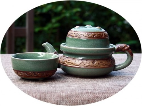 Chinese dragon tea set for 2
