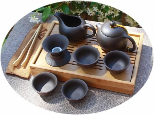 Yixing Zisha tea set A
