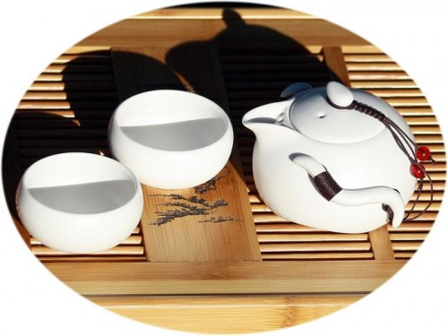 Chinese tea set Ding Kiln Chinese tea set for 2- nougat