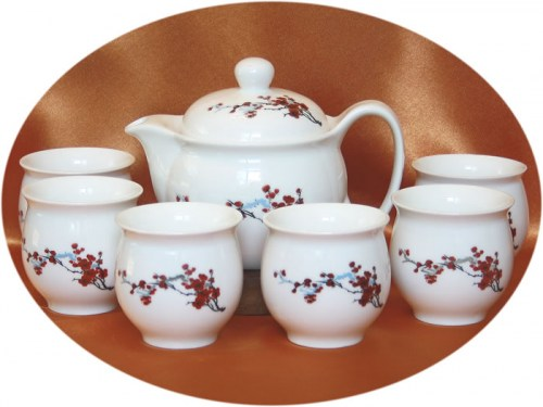 Buy Chinese tea set cherry blossom