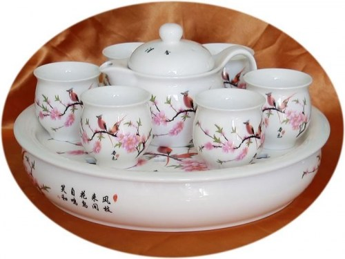 Chinese Tea Set - Colour of Spring Art