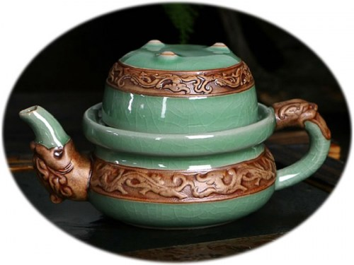Chinese tea set Ge Kiln personal tea set A