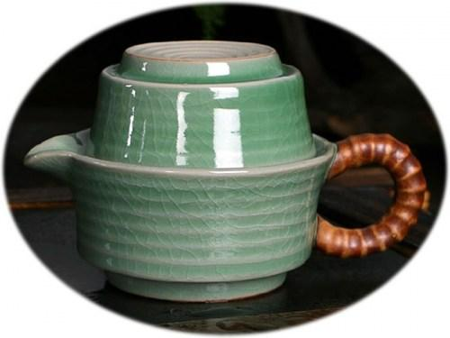 Chinese tea set Ge Kiln personal tea set B
