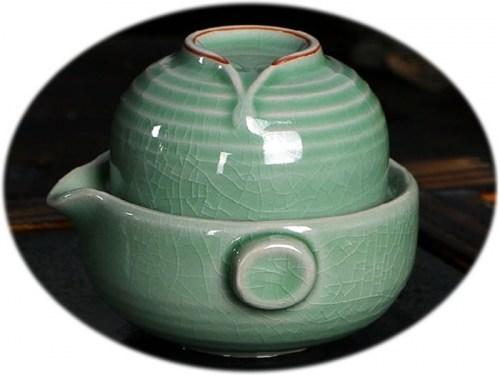 Chinese tea set Ge Kiln personal tea set C
