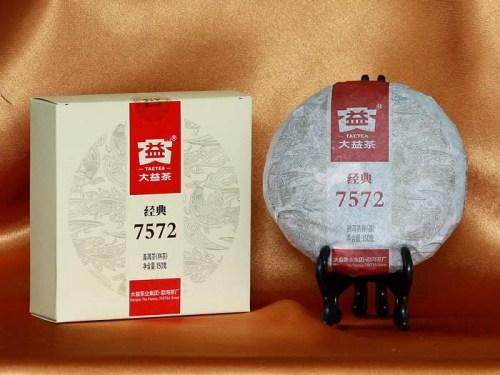pu-erh ripened cake da yi 150g with packaging