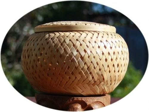 tea canister bamboo