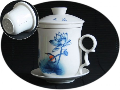 Ceramic tea mug with infuser B