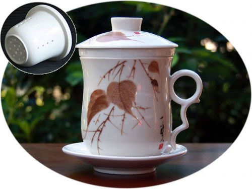 tea infuser ceramic mug D