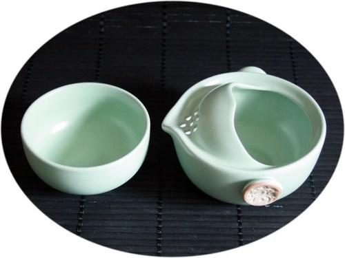Chinese tea set Ru Kiln personal tea set C