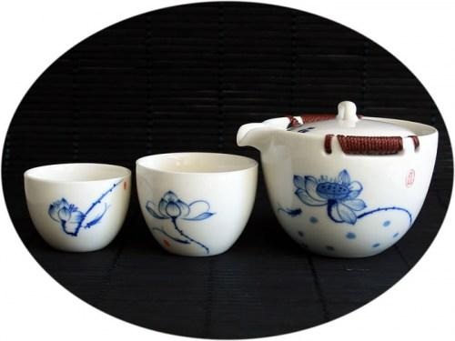 Hand paint tea set for 2 - tea basket delight