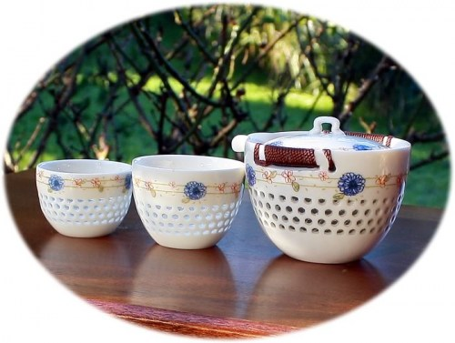tea set for 2 sun flower