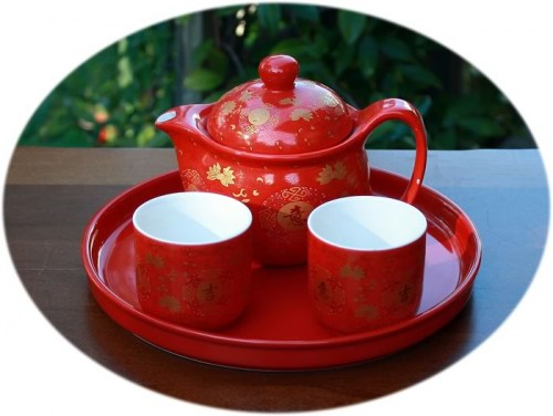 Chinese wedding tea set B