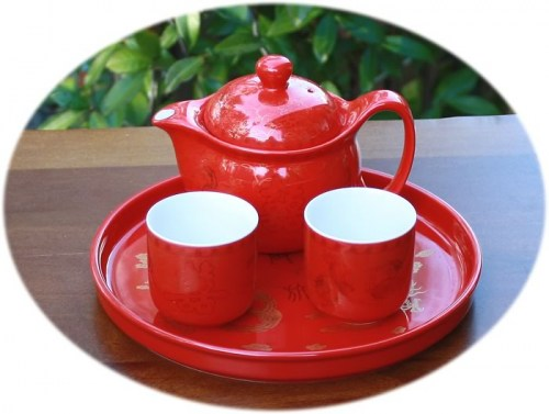 Chinese wedding tea set A