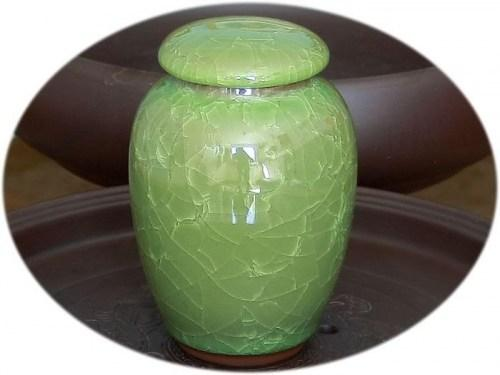 Tea Canister (ceramic) - glittering ice