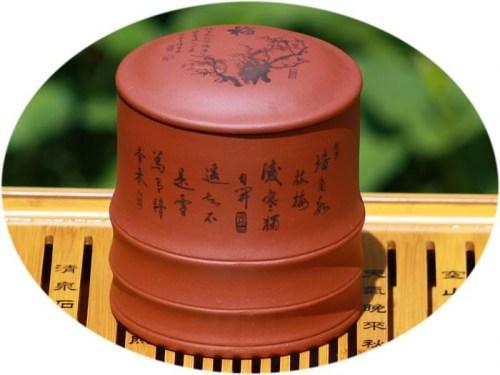YiXing ZiSha tea canister prosperity