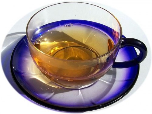 Glass tea cup and saucer - 1
