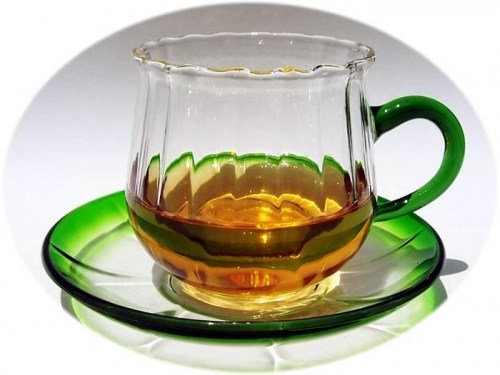 Glass tea cup and saucer - 2