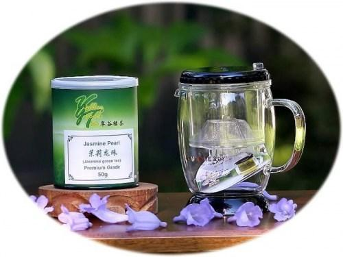 tea gift tea infuser and jasmine pearl tea