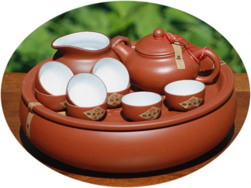 Chinese tea set ZiSha tea set plus tea tray
