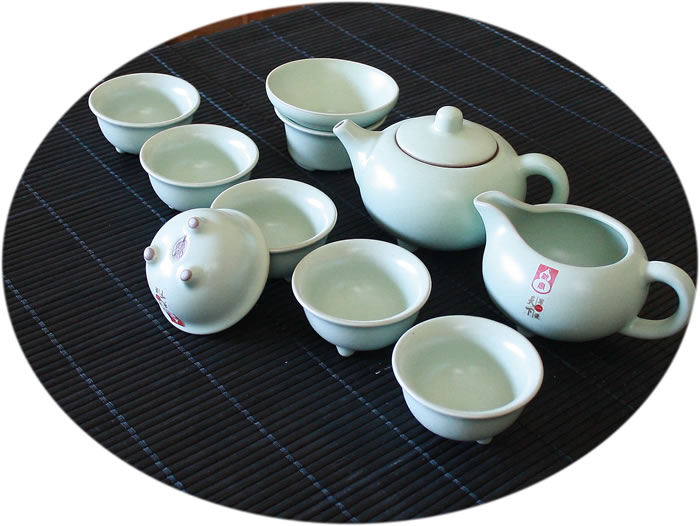 Chinese tea set Ru Kiln 10 Pieces Tea Set A