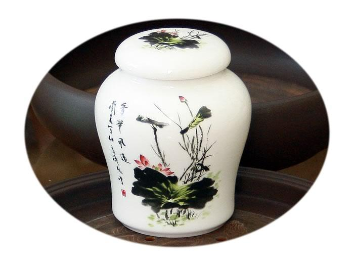 Large tea canister - pond alive