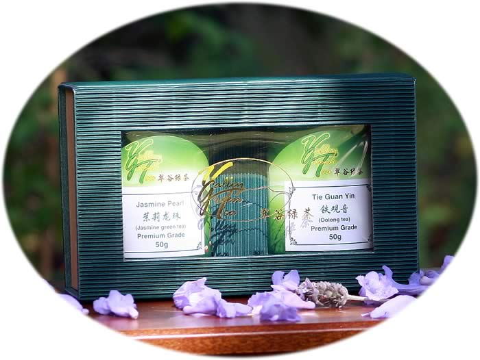 tea gift Jasmine pearl and Tie Guan Yin Oolong tea