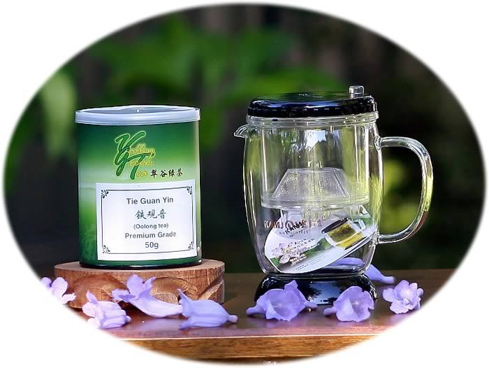 tea gift tea infuser and Tie Guan Yin
